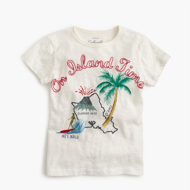 "Girls' ""On Island Time"" T-shirt"