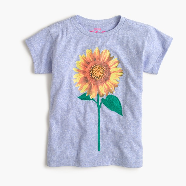 Girls' sunflower T-shirt