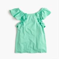 Girls' soft ruffle top
