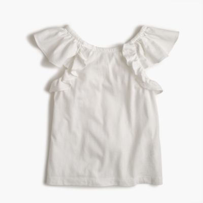 Girls' soft ruffle top