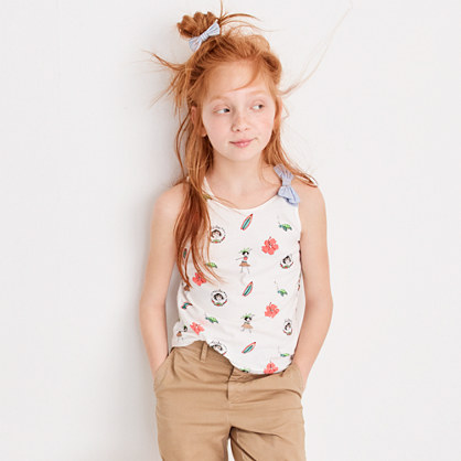 Girls' Olive in Hawaii bow tank