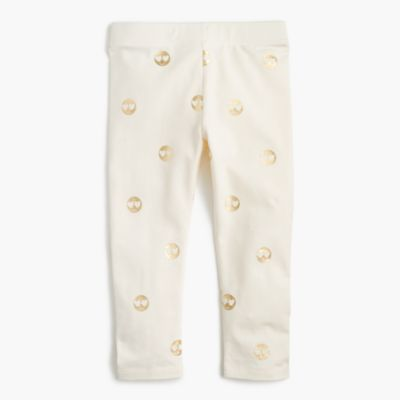 Girls' everyday cropped leggings in emojis
