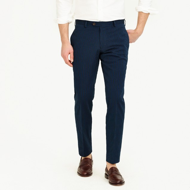 Ludlow suit pant in black Japanese seersucker