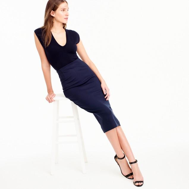 Skinny pencil skirt in ponte : Women pencil | J.Crew
