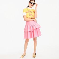 Petite tiered ruffle skirt