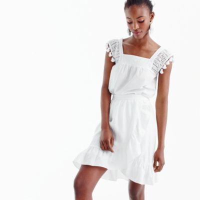 Tall linen ruffle skirt