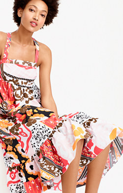 Midi sundress in magnificent floral