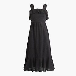 Petite ruffle eyelet dress