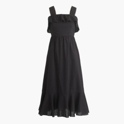 Tall ruffle eyelet dress