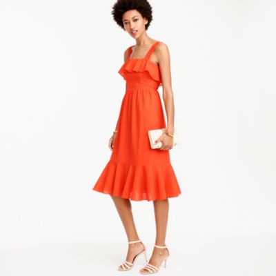 Ruffle eyelet dress