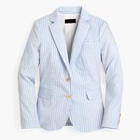 Fitted blazer in shirting stripe