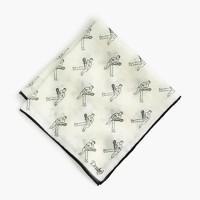 Drake's® cotton-silk pocket square in tennis player print