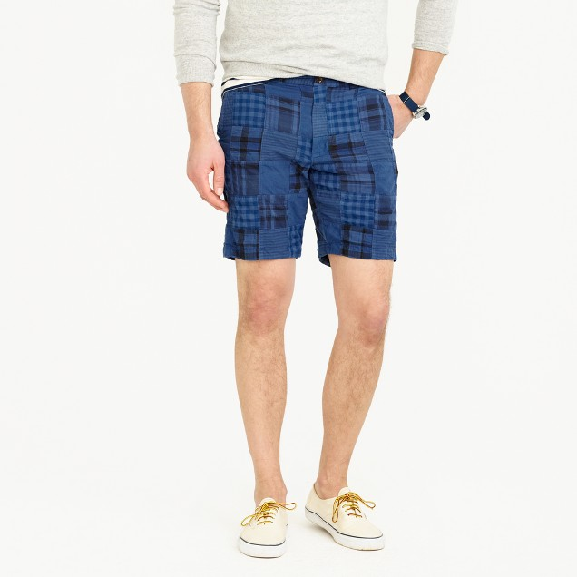 """9"""" short in overdyed patchwork"""