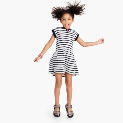 Girls' striped ringer dress