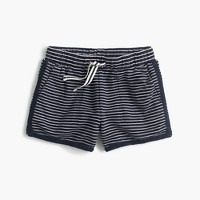 Girls' pull-on short in stripe