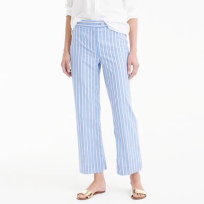 Cropped pant in shirting stripe