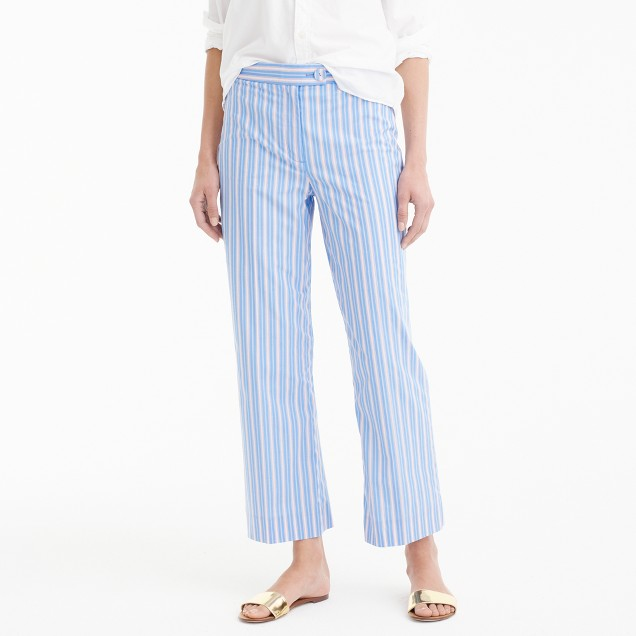 Cropped pant in shirting stripe