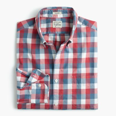 Secret Wash shirt in exploded pink check