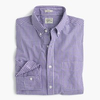 Slim Secret Wash shirt in purple gingham