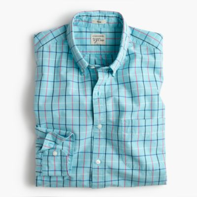 Slim Secret Wash shirt in end-on-end cotton check