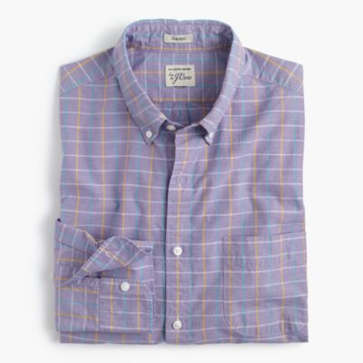 Secret Wash shirt in end-on-end cotton check
