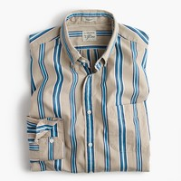 Secret Wash shirt in brown stripe