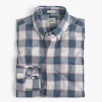 Slim heather poplin shirt in check