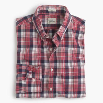 Secret Wash shirt in classic red plaid