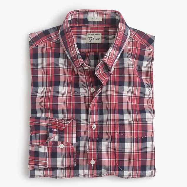 Secret Wash shirt in classic red plaid