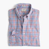 Heather poplin shirt in blue check