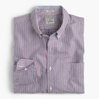 Secret Wash shirt in red and blue stripe