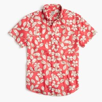 Short-sleeve shirt in red floral print