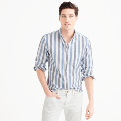 Slim lightweight oxford shirt in bold stripe