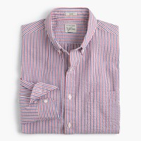Seersucker shirt in fine stripe