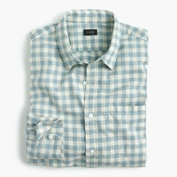 Tall slub cotton shirt in gingham