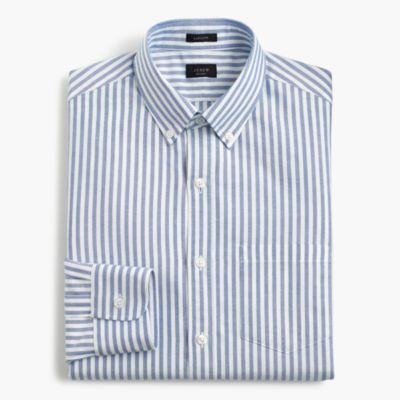 Ludlow oxford shirt in blue stripe