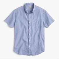 Short-sleeve shirt in seersucker