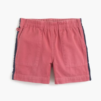 Boys' dock short with racer stripe