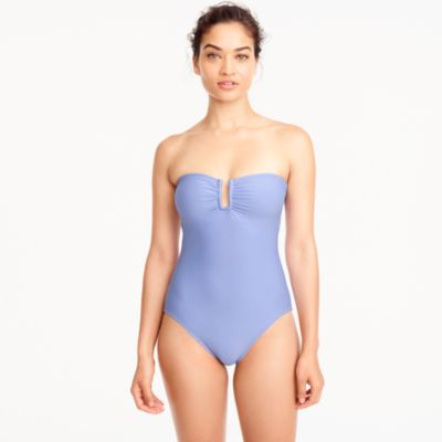 U-front bandeau one-piece