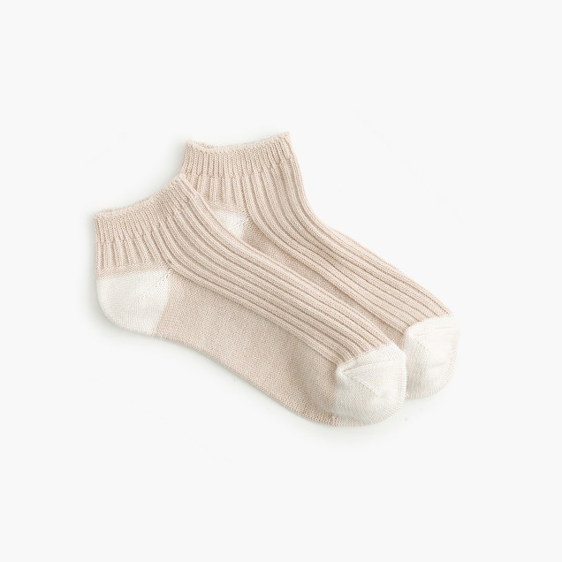 Marled ankle socks
