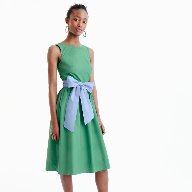 A-line dress with tie