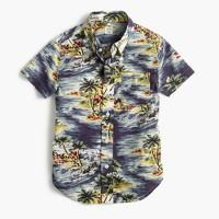 Kids' short-sleeve shirt in Hawaiian print