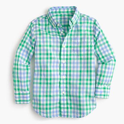 Kids' Secret Wash shirt in spring gingham