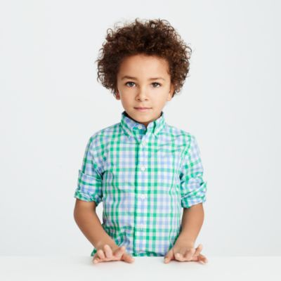 Kids' Secret Wash shirt in spring gingham