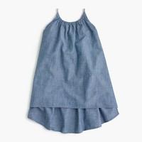 Girls' chambray tank dress