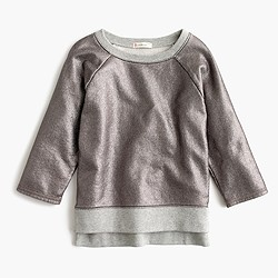 Girls' metallic sweatshirt