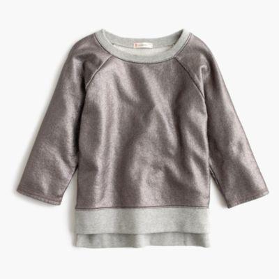 Girls' metallic sweatshirt