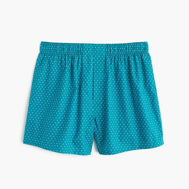 Dot print boxers