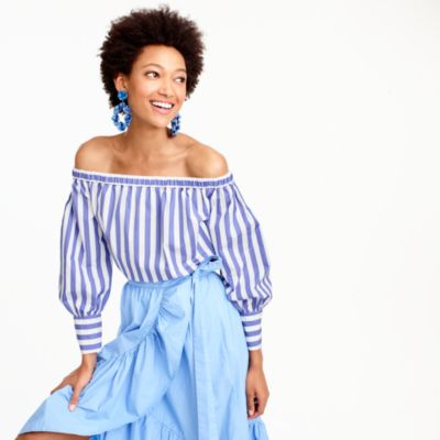 Collection Thomas Mason® for J.Crew off-the-shoulder striped top