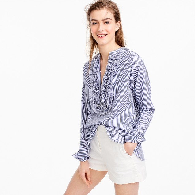 Collection Thomas Mason® for J.Crew striped ruffled popover